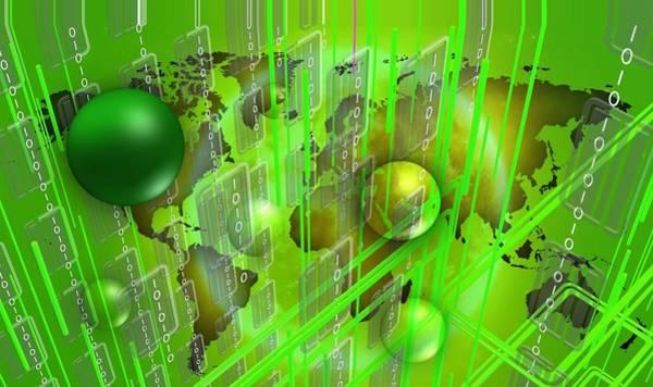 Digital Art - Green Work by Alberto RuiZ