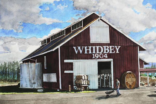 Whidbey Island Wall Art - Painting - Greenbank Farm by Perry Woodfin