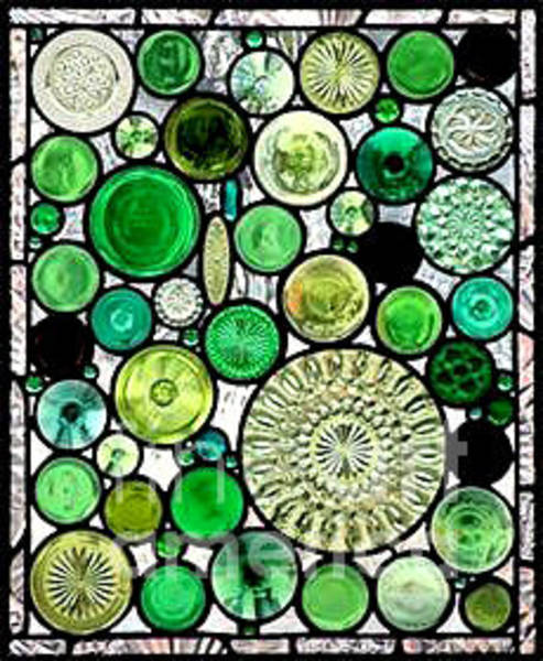 Glass Art - Greenfaries by Kasey Jones
