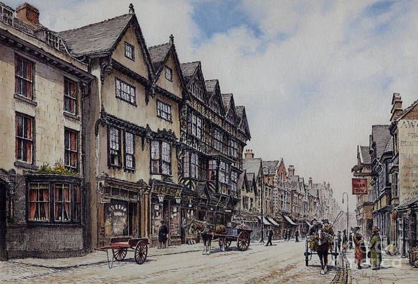 Wall Art - Painting - Greengate Street Stafford by Anthony Forster