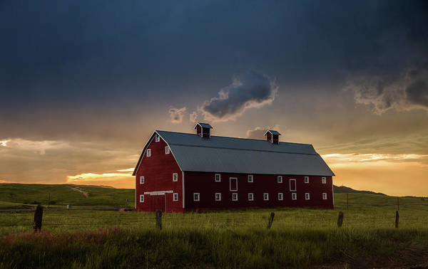 Wall Art - Photograph - Greenland Barn During A Severe Summer Storm by Bridget Calip