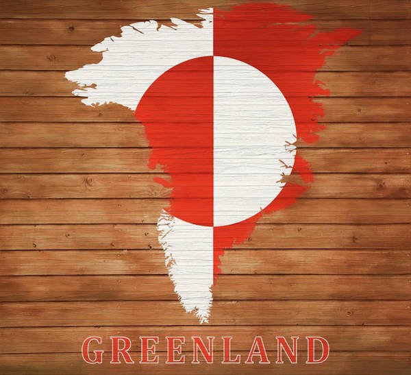 Traveler Mixed Media - Greenland Rustic Map On Wood by Dan Sproul