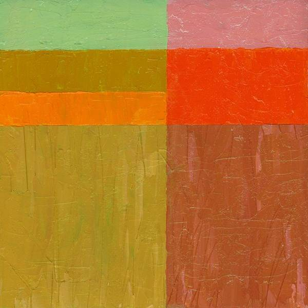 Terracotta Painting - Greens And Reds by Michelle Calkins