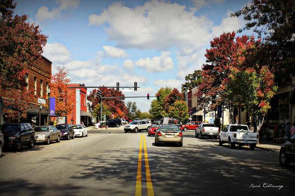 Photograph - Greensboro Georgia Corner Of Main Street And Broad Street Fall Leaves Greensboro Georgia Art by Reid Callaway