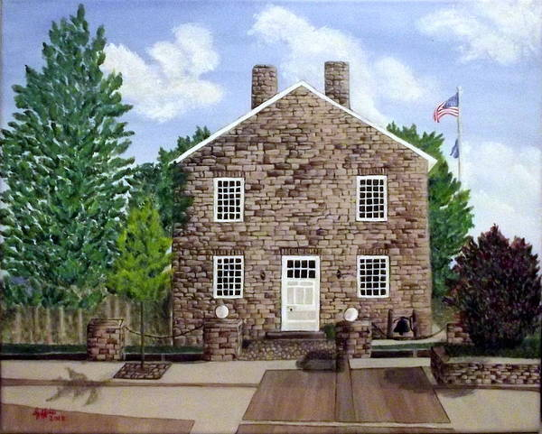 Courthouse Painting - Greensburg Kentucky Courthouse by Sheryl Jeffries