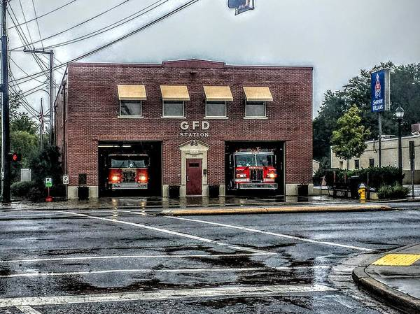 Wall Art - Photograph - Greenville Fire Department Station 3 - Augusta Road by Noel Adams