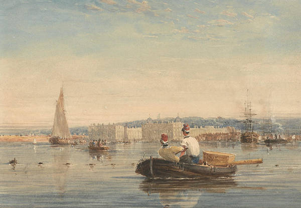 Painting - Greenwich by David Cox