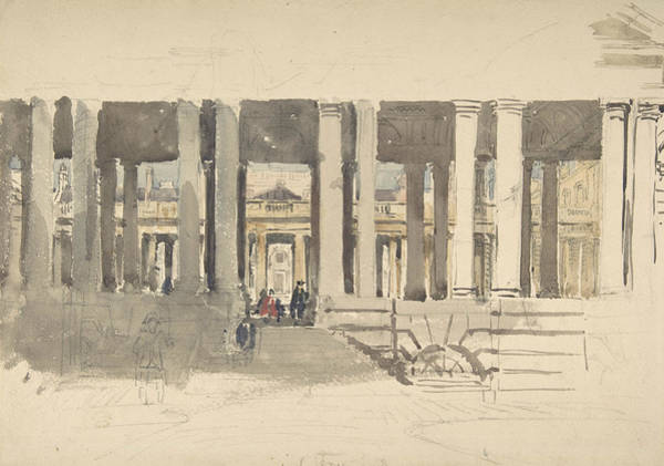 Drawing - Greenwich Hospital by David Cox