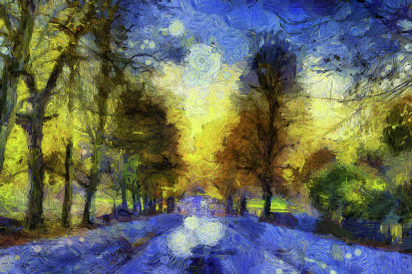 Wall Art - Mixed Media - Greenwich Park Van Gogh by David Pyatt