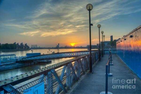 Wall Art - Photograph - Greenwich Pier Sunrise by Donald Davis