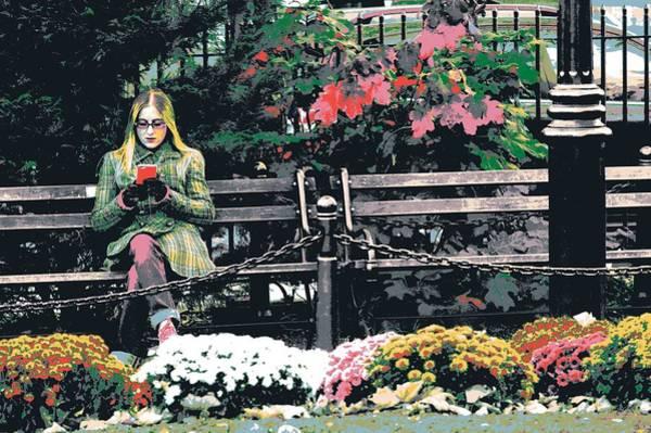 Park Bench Mixed Media - Greenwich Village by Shay Culligan