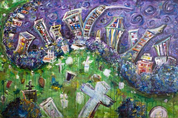 Wall Art - Painting - Greenwood Graveyard Brooklyn by Jason Gluskin