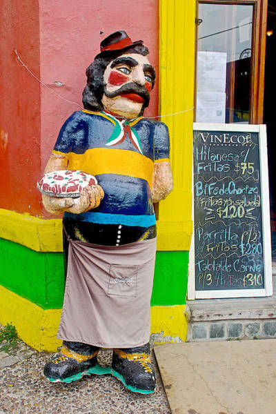 Greeters Photograph - Greeter At Pizzeria In La Boca Area Of Buenos Aires-argentina- by Ruth Hager