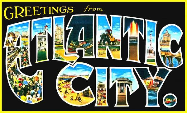 Photograph - Greetings From Atlantic City by Vintage Collections Cites and States