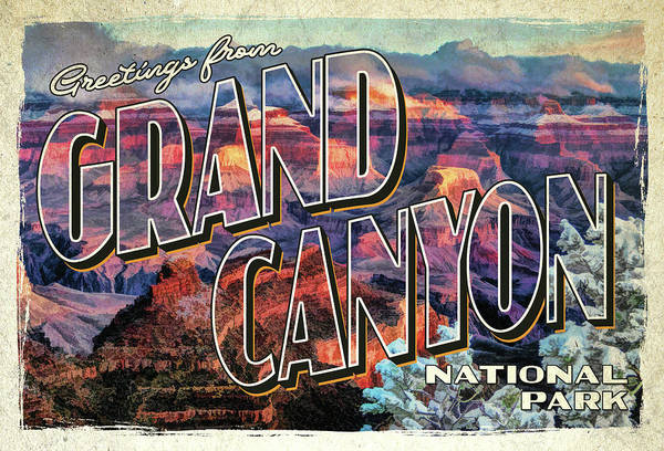 Painting - Greetings From Grand Canyon National Park by Christopher Arndt