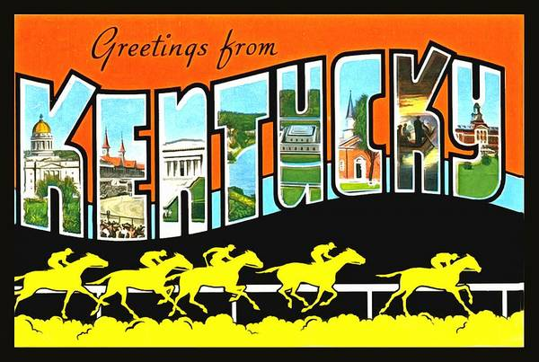 Photograph - Greetings From Kentucky by Vintage Collections Cites and States