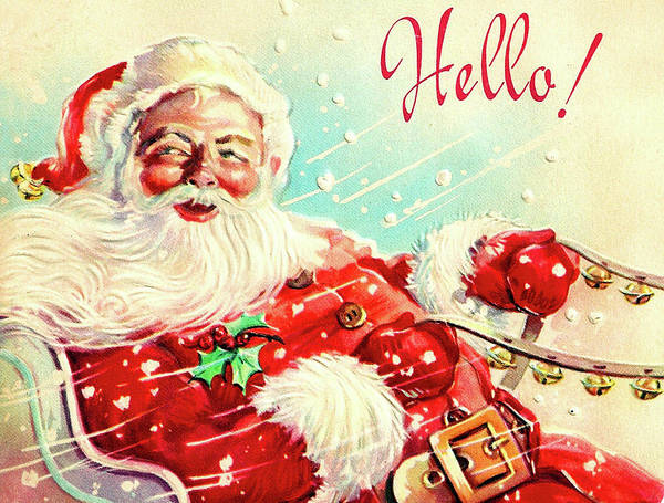 Hello Painting - Greetings From Santa by Long Shot
