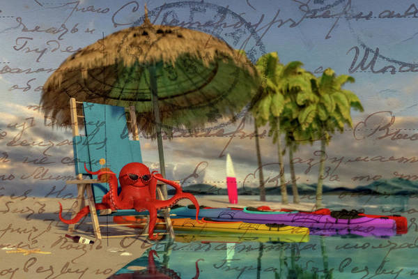 Tropics Digital Art - Greetings From The Caribbean  by Betsy Knapp
