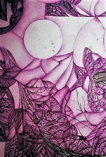 Wall Art - Drawing - Greetings by Jack Dillhunt