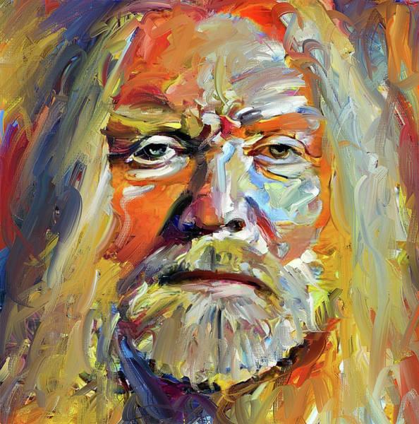 Greg  Allman Tribute Portrait Art Print