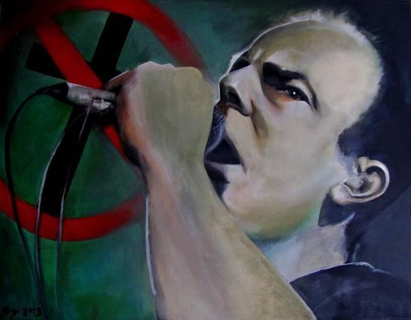 Evolution Painting - Greg Graffin Bad Religion by Sigi Schlosser