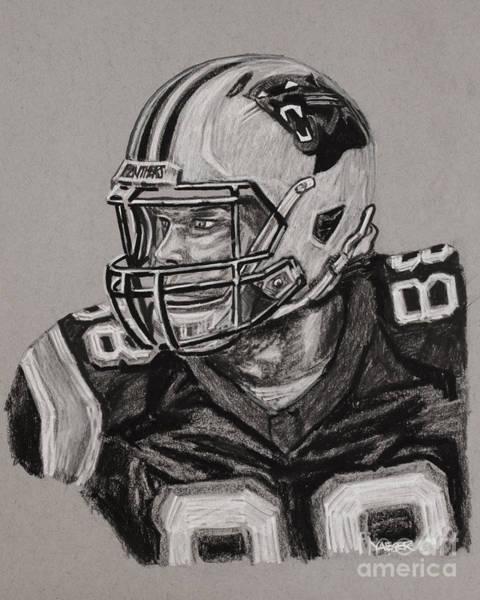 Super Bowl Drawing - Greg Olsen Portrait  by Robert Yaeger