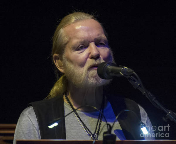 Harrahs Photograph - Gregg Allman At Harrah's Cherokee Casino Hotel Resort  by David Oppenheimer