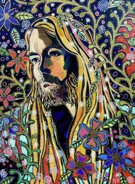 Tribute Painting - Gregg Allman by PA Mathison