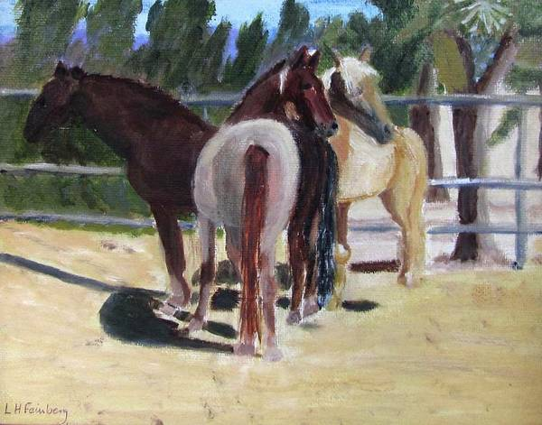 Painting - Gregory And His Mares by Linda Feinberg