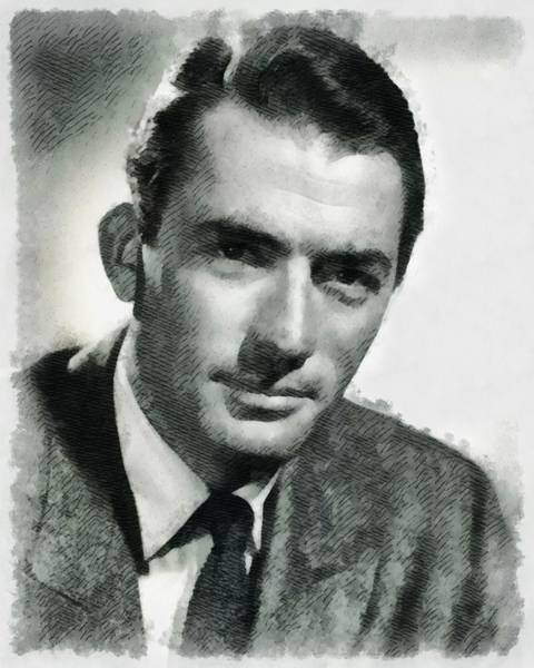 Peck Wall Art - Painting - Gregory Peck Hollywood Actor by John Springfield
