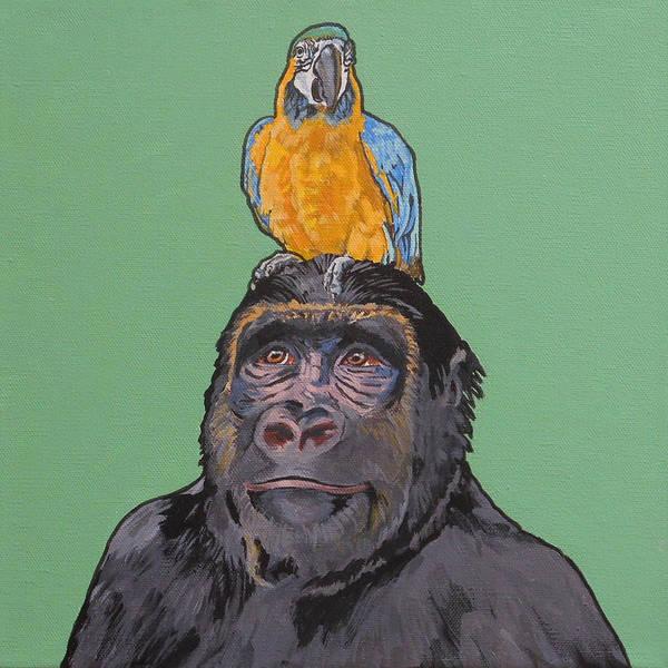Gregory The Gorilla Art Print