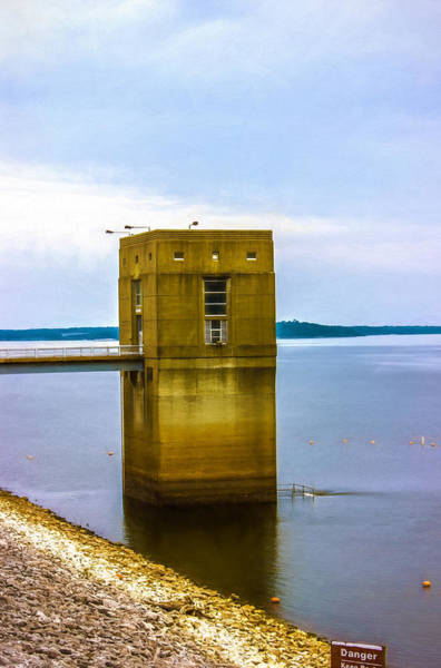 Photograph - Grenada Lake Dam House by Barry Jones