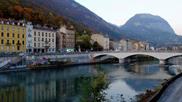 Photograph - Grenoble Citadelle Bridge by August Timmermans