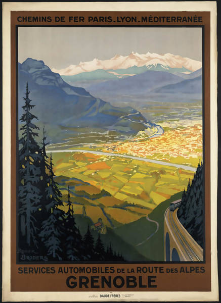 Vintage Poster Mixed Media - Grenoble by David Wagner