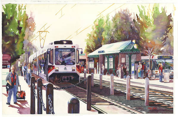 Rail Painting - Gresham Station by Mike Hill