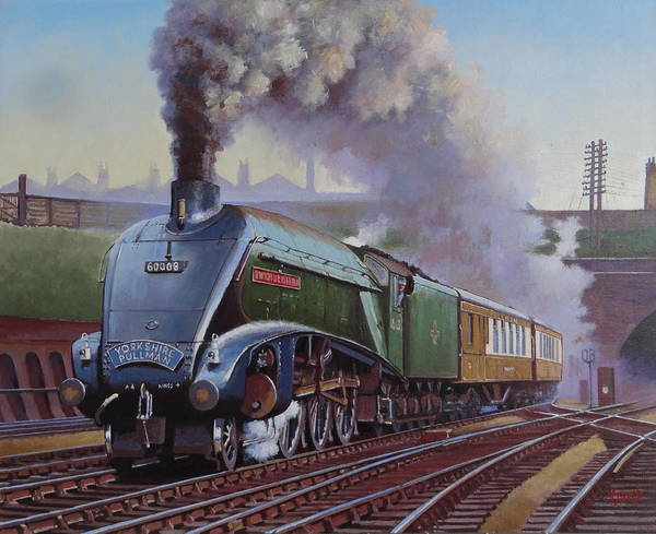 Wall Art - Painting - Gresley Pacific A4 Class. by Mike Jeffries
