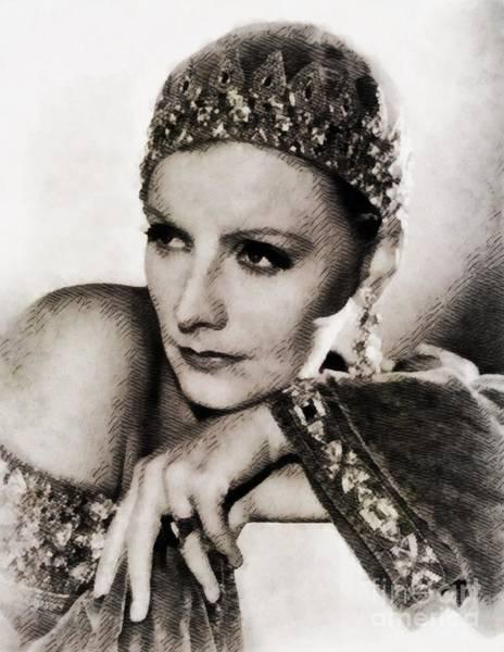 Pinewood Painting - Greta Garbo, Vintage Actress by John Springfield