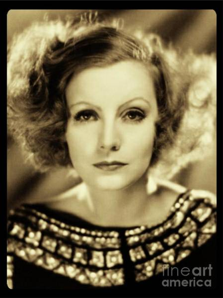 Film Star Photograph - Greta Garbo Vintage Hollywood Actress by Esoterica Art Agency