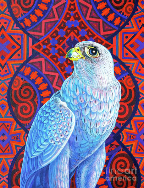 Wall Art - Painting - Grey Falcon, 2017 by Jane Tattersfield