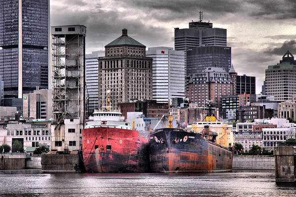 Old Montreal Photograph - Grey Haven by Russell Styles