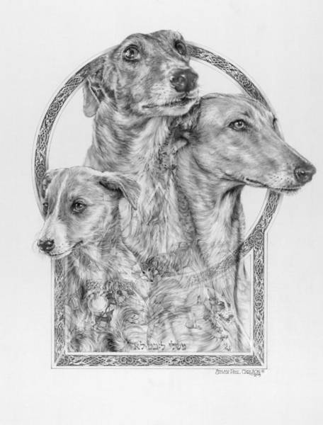 Sight Hound Drawing - Greyhound - The Ancient Breed Of Nobility - A Legendary Hidden Creation Series by Steven Paul Carlson