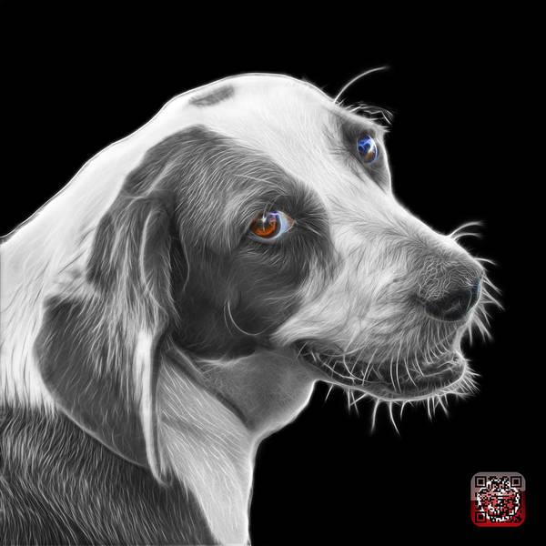 Painting - Greyscale Beagle Dog Art- 6896 - Bb by James Ahn