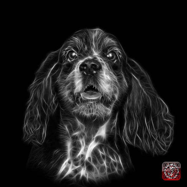 Mixed Media - Greyscale Cocker Spaniel Pop Art - 8249 - Bb by James Ahn