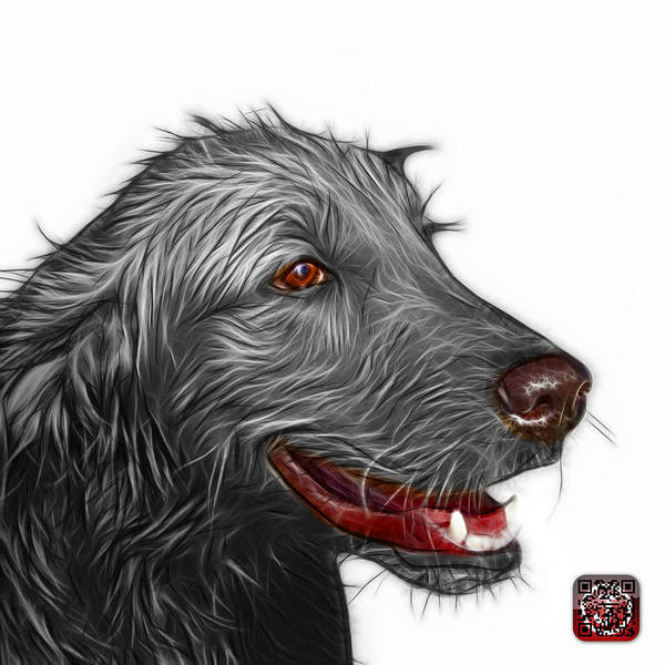 Painting - Greyscale Golden Retriever Dog Art- 5421 - Wb by James Ahn