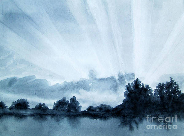 Wall Art - Painting - Greyscale Landscape 2 by Kathy Braud