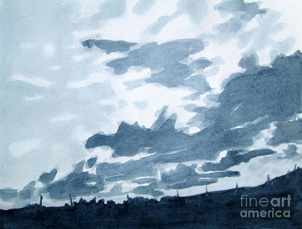 Wall Art - Painting - Greyscale Landscape 4 by Kathy Braud