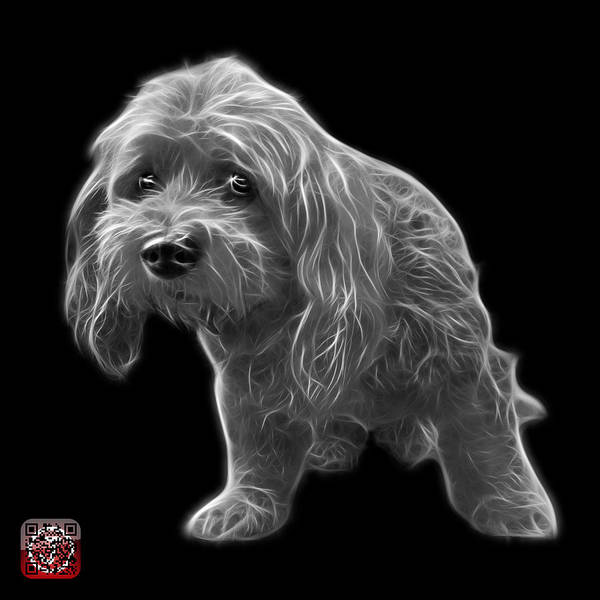 Painting - Greyscale Lhasa Apso Pop Art - 5331 - Bb by James Ahn