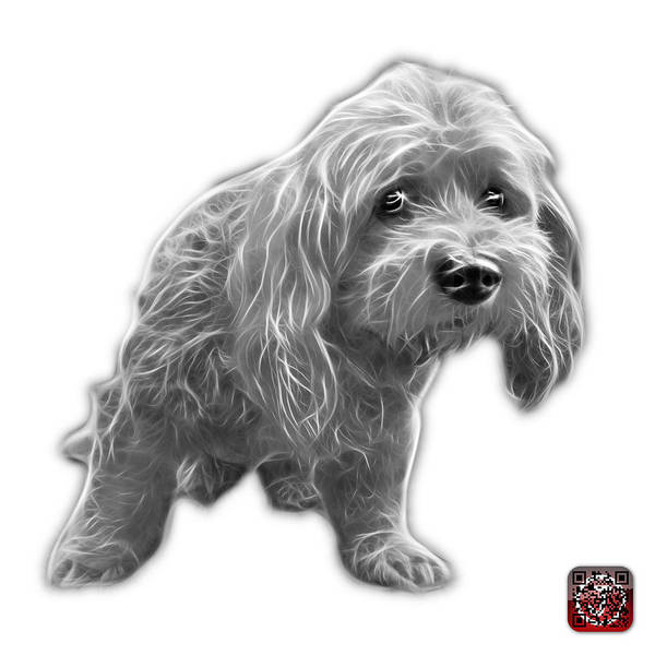 Painting - Greyscale Lhasa Apso Pop Art - 5331 - Wb by James Ahn