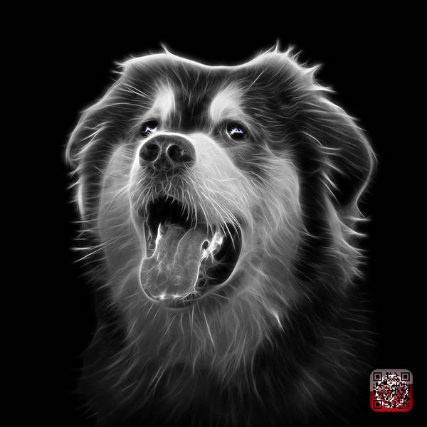 Painting - Greyscale Malamute Dog Art - 6536 - Bb by James Ahn