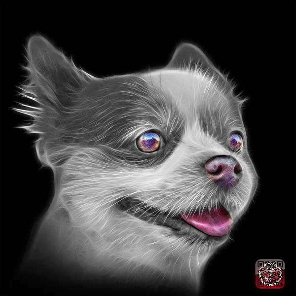 Painting - Greyscale Pomeranian Dog Art 4584 - Bb by James Ahn